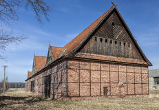 The ruins of the old barn buildings Royalty Free Stock Images