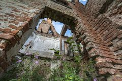 Ruins of old baroque palace in Gladysze Stock Images