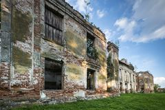 Ruins of old baroque palace in Gladysze, Pomerania, Poland Royalty Free Stock Image