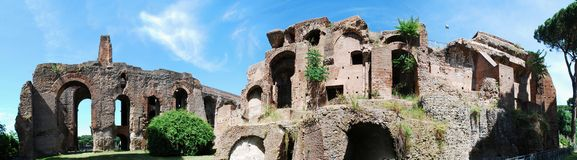 Ruins of the old and beautiful city Rome Royalty Free Stock Photo