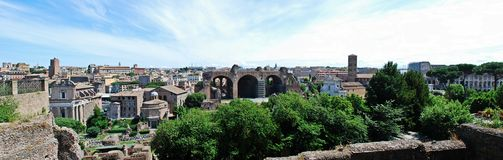 Ruins of the old and beautiful city Rome Royalty Free Stock Photos