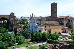 Ruins of the old and beautiful city Rome Stock Image