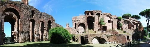 Ruins of the old and beautiful city Rome Stock Images