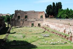 Ruins of the old and beautiful city Rome Royalty Free Stock Photography