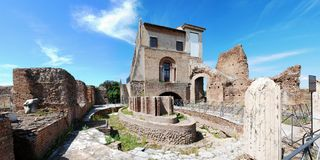 Ruins of the old and beautiful city Rome Royalty Free Stock Image