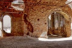 Ruins of old brick church Royalty Free Stock Image