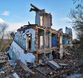 Ruins of an old   brick house. Stock Images