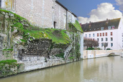 The ruins of the old bridge in Chartres. Royalty Free Stock Images