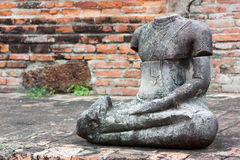 Ruins of old Buddha Royalty Free Stock Photography