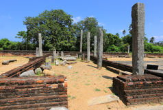 Ruins of old Buddha monastery Stock Photos