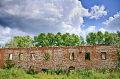 Ruins of an old building Royalty Free Stock Photo