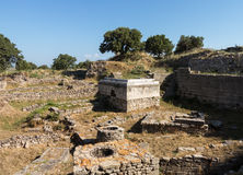 Ruins of old buildings in Troy Stock Photography