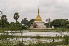 Ruins of an old Burmese temple stock image