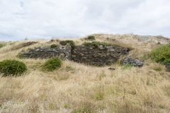 Ruins of Old Cape Jervis Whaling Station, Fleurieu Peninsula, So Royalty Free Stock Images