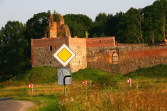 Ruins of old castle Royalty Free Stock Image