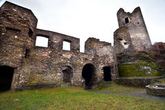 Ruins of the old castle royalty free stock image