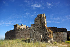 Ruins of the old castle. In Portugal royalty free stock photography