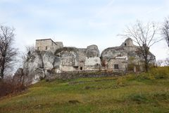 Ruins of old castle Bakowiec Stock Photography