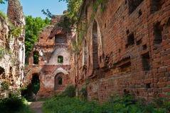 Ruins of old castle Balga Royalty Free Stock Photo