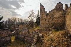 Ruins of the old castle Royalty Free Stock Images