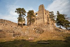 Ruins of the old castle Stock Photography