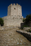 Ruins of an old castle in Greece Royalty Free Stock Image