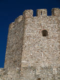 Ruins of an old castle in Greece Royalty Free Stock Photography