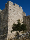 Ruins of an old castle in Greece Stock Image