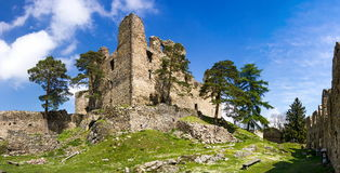 The ruins of the old castle Helfenburk Stock Photo