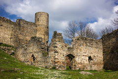 The ruins of the old castle Helfenburk Royalty Free Stock Image