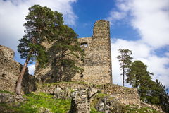 The ruins of the old castle Helfenburk Stock Images