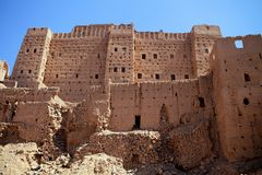 The ruins of the old castle Kasba, Morocco Stock Image