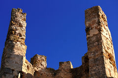 Ruins of Old castle of Knights Templar in Spain. Royalty Free Stock Image