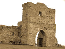 ruins of the old castle main gate Europe Kremenets royalty free stock image