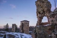 Ruins. Old castle ruins near Latvian border Royalty Free Stock Image