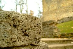 The ruins of the old castle photo version royalty free stock photography