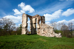 Ruins of old castle Stock Image