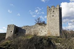 Ruins of old castle royalty free stock photography