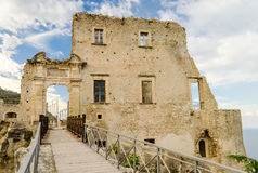 Ruins of an old castle in south of Italy Royalty Free Stock Photography