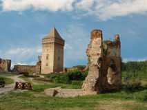 The ruins of the old castle Stock Image