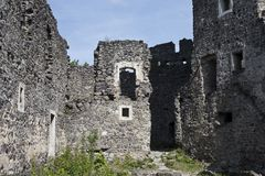 The ruins of the old castle Royalty Free Stock Photos