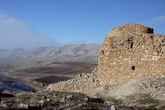 The ruins of the old castle in Turkey Royalty Free Stock Photography