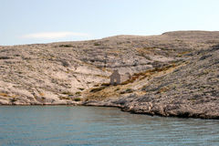 Ruins of an old church. On Pag islands in Adriatic sea. Croatia Stock Images