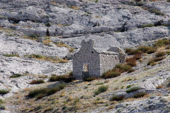 Ruins of an old church. On Pag islands in Adriatic sea. Croatia Royalty Free Stock Photos