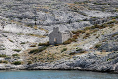 Ruins of an old church. On Pag islands in Adriatic sea. Croatia Royalty Free Stock Photography