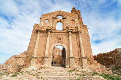 Ruins of an old church destroyed during the spanish civil war in Belchite. Stock Image