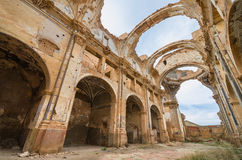 Ruins of an old church destroyed during the spanish civil war in Stock Photo