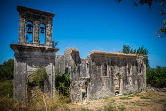 The ruins of the old church Royalty Free Stock Image