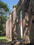 Ruins of Old Church. Ruins of Old Sheldon Church near Charleston, South Carolina Stock Images