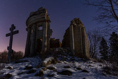 The ruins of the old Church Royalty Free Stock Photo